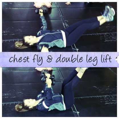 Chest Fly + Double Leg Lift