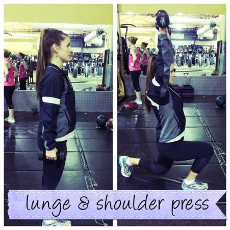 Lunge + Shoulder Press