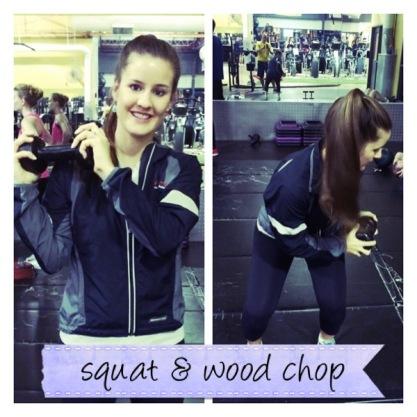 Squat + Wood chop
