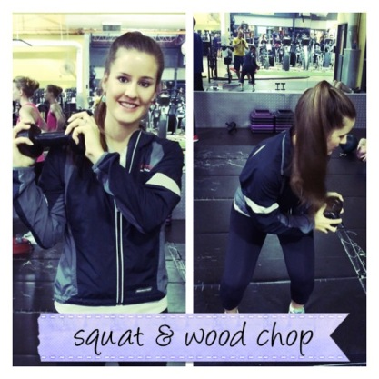 Squat + Wood chop